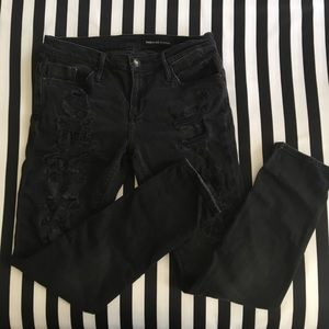 Black orchid distressed skinny jeans
